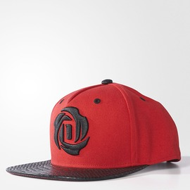 ADIDAS  D ROSE 5 CAP 棒球帽-紅/黑 AY6184