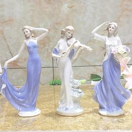 家居陶瓷飾品工藝品酒柜擺設歐式西洋女擺件婚慶人物客廳擺件  型男基地