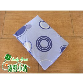 大林小草~【GP-17633M-圈圈藍】山林者床包 (適用歡樂時光、露營達人充氣床墊M號)