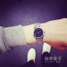 韓國ulzzang東大門金屬手錶氣質復古簡約休閒情侶森繫女款學生錶