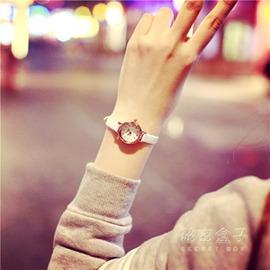 韓國女生細帶手錶女小錶盤皮帶學生女錶 精致簡約復古小清