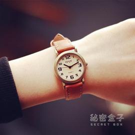 韓國羅馬數字學生女錶 簡約小錶盤復古皮帶休閒男手錶