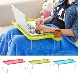 折疊電腦桌宿舍床上用懶人餐桌 家用學生簡易筆電小桌子TW
