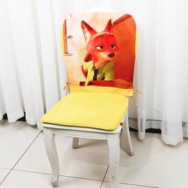 英文字坐墊45^~45^~2cm海綿藝必旭英倫風餐桌椅套椅背套美式鄉村餐椅椅墊套裝布藝座墊