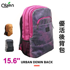 海思 ~~OBIEN~URBAN DENIN BACKPACK 優活後背包 ^(漾桃紅^)