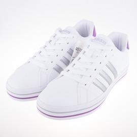 ADIDAS  WEEKLY   皮革 女 休閒鞋-白/銀 AW5174