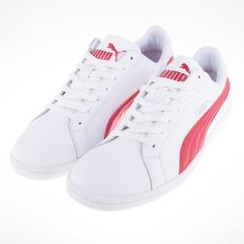 PUMA   Smash L 皮質  復古球鞋-白/紅 356722-18