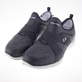 Skechers  (女)  Flex Appeal 2.0  寬楦 健走鞋-黑 12752WBKGY