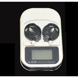 LIR2032,LIR2025,LIR2016 3.6V紐扣電池 充電器 **LCD螢幕顯示**