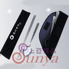 TL~24651龍町波紋ST筷袋組禮^(湯匙 筷子 餐具 湯碗 原木 吃飯用餐 環保 餐具