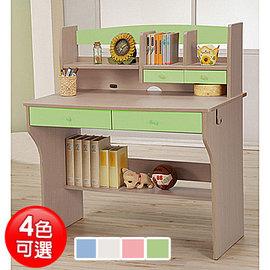 附抽屉+层架设计《天才学童》日式儿童书桌