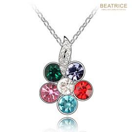 ~BEATRICE~碧翠絲 ~B77 施華洛世奇水晶元素 璀璨花朵 氣質大方 水晶項鍊~6