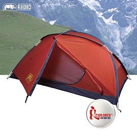 探險家戶外用品㊣G-22 犀牛RHINO 二人帳篷 單層超輕帳棚 雙人登山帳蓬鋁合金帳蓬雙人帳爬山攻頂露營