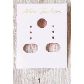 ~1768 網~飾品吊卡 耳環片~粉紅  展示耳環 ^(500入 包^) ^(6~8003