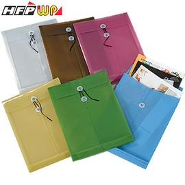 HFPWP 不透明立體直式文件袋^(冷色系^) 防水無毒塑膠 製F121~1~10 外銷