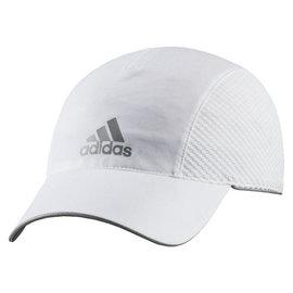 Adidas~CLIMAlite系列 輕量 清涼 透氣 慢跑 路跑帽-白(AA2140 )