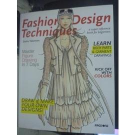 ~書寶 書T8╱廣告_ZCJ~Fashion Design Techniques_Zesh