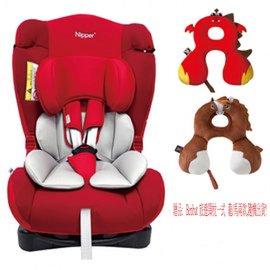 Nipper 0-7歲兒童汽車安全座椅-紅,再贈:Benbat 旅遊頸枕一式 (龍/馬兩款,隨機出貨)