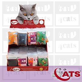 新品~4cats~~490免 ~德國 •療癒貓草 貓薄荷 小抱枕•貓咪玩具