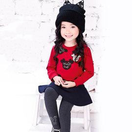 ~捷比 ~wonBoRn~JW565004~金蔥小熊印花俏麗傘襬上衣~二色