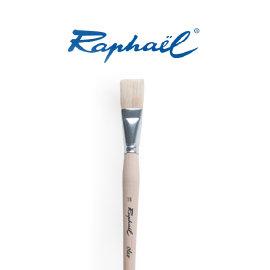 ~時代中西畫材~法國 RAPHAEL拉菲爾363 白豬鬃毛長平筆 10號