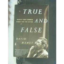 ~書寶 書T9╱藝術_KEM~True and false_David Mamet.