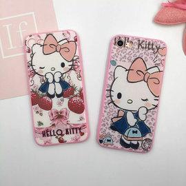 iphone7 KT粉邊硬底軟邊 iphone7plus kitty 軟殼 凱蒂貓 手機殼