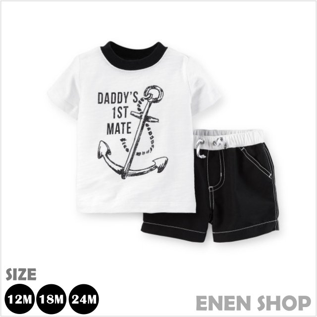 Enen Shop ~Carter s 船錨T恤 泳褲套裝組 ^#121D313 ∥ 12