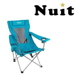 探險家戶外用品㊣NTC52B 努特NUIT 涼山伯透氣椅 附枕頭 (湖水藍) 休閒椅透氣網布大川椅海灘椅沙灘椅折疊椅摺疊椅