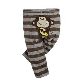 歐單可愛小猴仔卡通貼布柔軟舒適百搭純棉長褲^(12^~24m^)