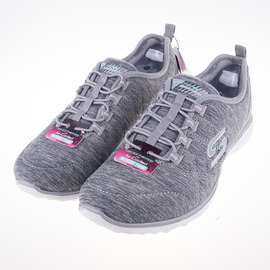 Skechers   (女) 時尚休閒系列 Microburs 女慢跑鞋-灰 23315GRY