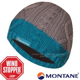 【英國 Montane】Gore Windstopper 經典_防風保暖美麗諾羊毛帽(僅125g 彈性舒適)針織毛帽.毛線帽/刷毛內裏.適登山滑雪賞雪/HWIBE 灰藍
