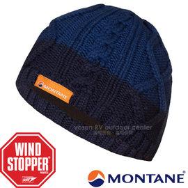 【英國 Montane】Gore Windstopper 經典_防風保暖美麗諾羊毛帽(僅125g 彈性舒適)針織毛帽.毛線帽/刷毛內裏.適登山滑雪賞雪/HWIBE 南極藍