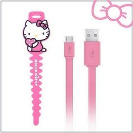 Hello Kitty micro USB 傳輸充電線~粉^(KT~CB03PK^)