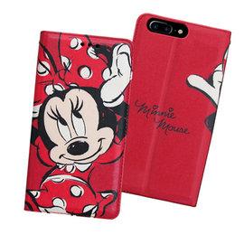 iPhone 7 plus 5.5吋  ✒ 迪士尼授權正版 手繪風磁力皮套(手繪米妮)