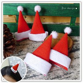 【Q禮品】A3118 聖誕帽造型髮夾-1入/耶誕/麋鹿角/賣萌 小草髮夾/聖誕佈置/聖誕樹/聖誕燈/聖誕帽/聖誕裝/聖誕禮物