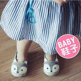 秋季童鞋 男女童鞋 新款帆布鞋 寶寶卡通狐狸 軟底鞋 嬰兒鞋 學步鞋【HH婦幼館】