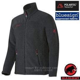 【瑞士 MAMMUT 長毛象】男新款 Innominata 超強快乾彈性保暖夾克外套(Polartec Thermal Pro)類羊毛中層排汗衣.透氣刷毛/21780-0033 黑