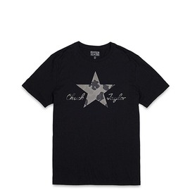 CONVERSE  五角星印花短袖T恤-黑 10000783001