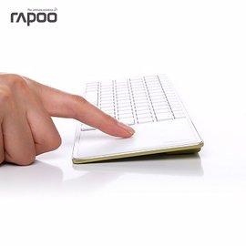 【支援 Android Smart TV】RAPOO  雷柏 E6700藍芽超薄觸控鍵盤 (金)