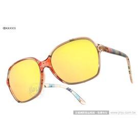 GUCCI 太陽眼鏡 GG3636NFS Z9X0J (透粉花紋) 時尚彩繪魅力經典水銀鏡面款 墨鏡 # 金橘眼鏡