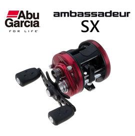 ◎百有釣具◎ABU Ambassadeur SX 鼓式捲線器 規格:AMBSX-6600/AMBSX-6601 高品質入門捲線器 拋投順暢 美觀又耐用