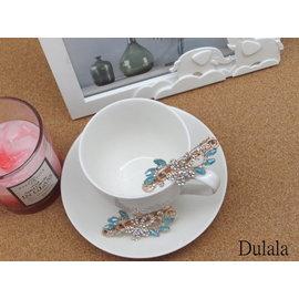 DULALA杜拉拉飾品  飾品 髮飾 鴨夾 髮夾 玫瑰金鴨夾 玫瑰金髮夾 玫瑰金髮飾 6對