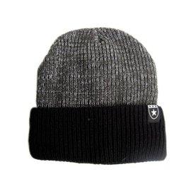 ~海倫精坊~冬暖款~星標幟雙層鋪棉反折黑色毛帽  150元 B1221男女適
