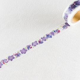 Round Top 和紙膠帶 HIRANO 系列 紫色西番蓮   TT~MK~009