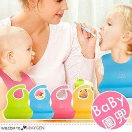 大容量立體防水矽膠兒童圍兜 吃飯兜【HH婦幼館】