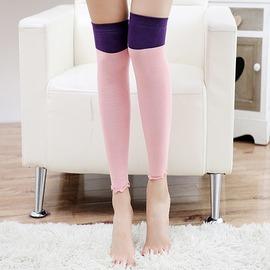 襪套 雙色 拼接 堆堆襪 過膝長筒 襪套~FS021~ BOBI 12 08