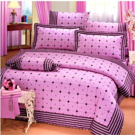 【諾貝達•莫卡利】浪漫物語 40支棉七件組-5x6.2呎雙人(100%精梳棉)鋪棉床罩組R7039A-M
