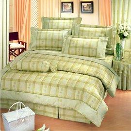 【諾貝達•莫卡利】格律迷情 40支棉七件組-5x6.2呎雙人(100%精梳棉)鋪棉床罩組R7021-M