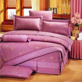 【諾貝達•莫卡利】時尚花語 40支棉七件組-5x6.2呎雙人(100%精梳棉)鋪棉床罩組R7011-M